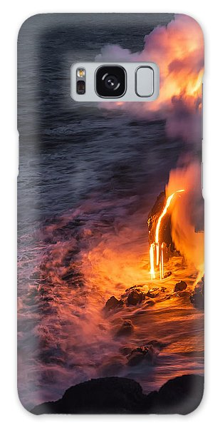 Kilauea Volcano Lava Flow Sea Entry 6 - The Big Island Hawaii Galaxy Case