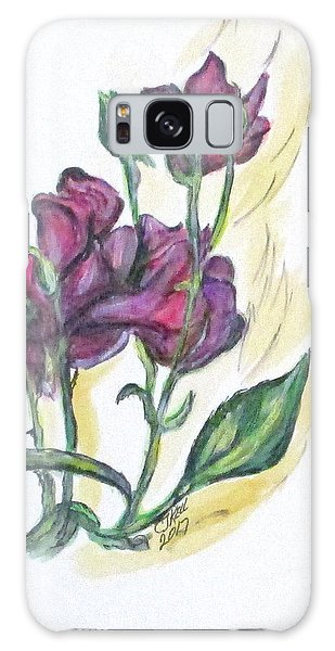 Kimberly's Spring Flower Galaxy Case by Clyde J Kell
