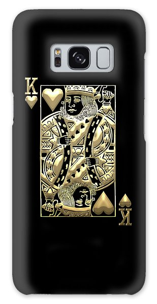 King Of Hearts In Gold On Black Galaxy Case