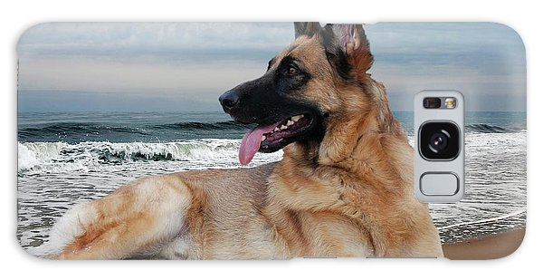 King Of The Beach - German Shepherd Dog Galaxy Case