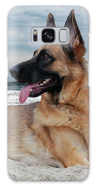 King Of The Beach - German Shepherd Dog Galaxy Case