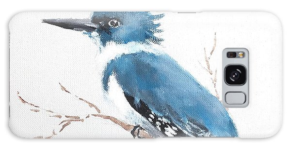 Kingfisher On A Branch Galaxy Case