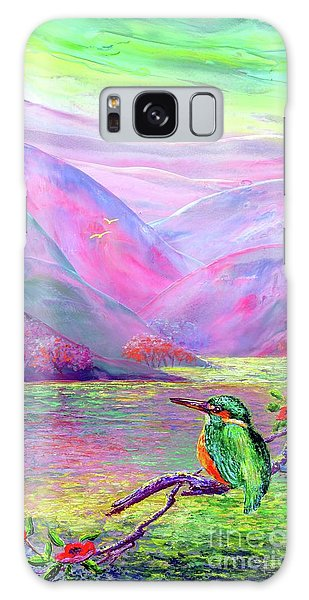 Kingfisher, Shimmering Streams Galaxy Case