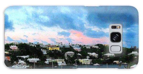 King's Wharf Bermuda Harbor Sunrise Galaxy Case by Susan Savad