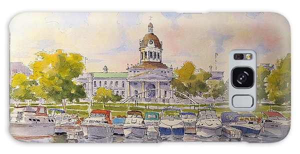 Galaxy Case featuring the painting Kingston City Hall And Harbour by David Gilmore
