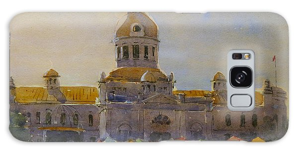 Galaxy Case featuring the painting Kingston-city Hall Market Morning by David Gilmore