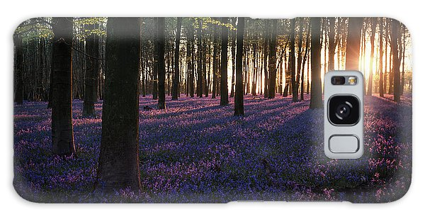 Bluebell Galaxy Case - Kingswood Bluebells Sunrise by Ian Hufton