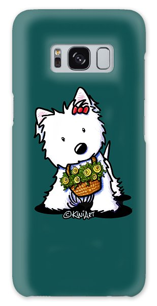 Kiniart Flower Basket Westie Galaxy Case