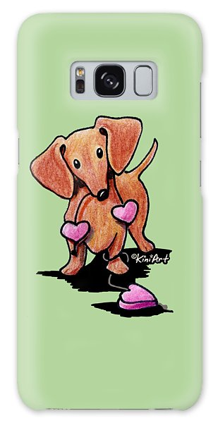 Kiniart Heartstrings Doxie Galaxy Case