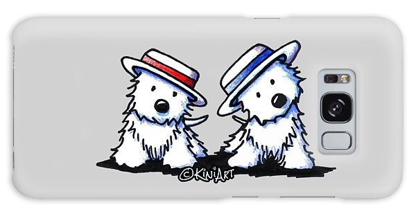 Kiniart Westie Dancing Duo Galaxy Case