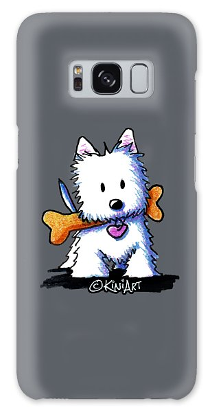 Kiniart Westie With Bone Galaxy Case