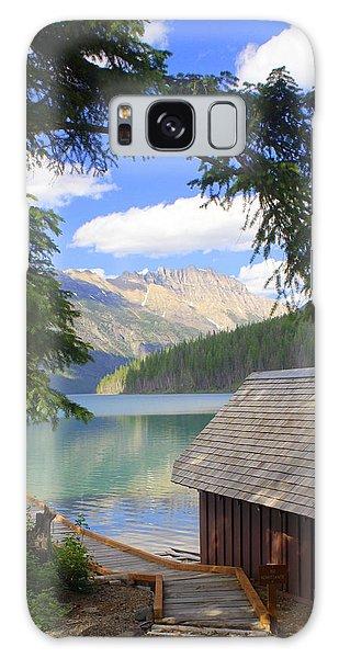 Kintla Lake Ranger Station Glacier National Park Galaxy Case