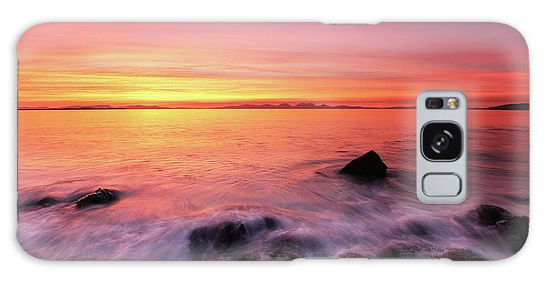 Galaxy Case featuring the photograph Kintyre Rocky Sunset 3 by Grant Glendinning