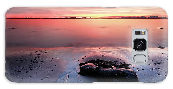 Galaxy Case featuring the photograph Kintyre Rocky Sunset 5 by Grant Glendinning