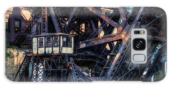 Kinzie Rail Bridge Detail Galaxy Case