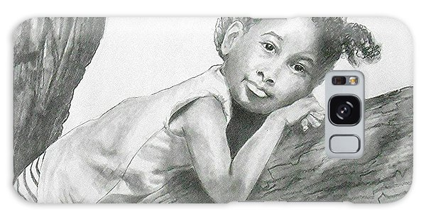 Kirikou, Dreaming -- Portrait Of Little African-american Girl Galaxy Case
