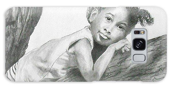 Kirikou, Dreaming -- Portrait Of Little African-american Girl Galaxy Case