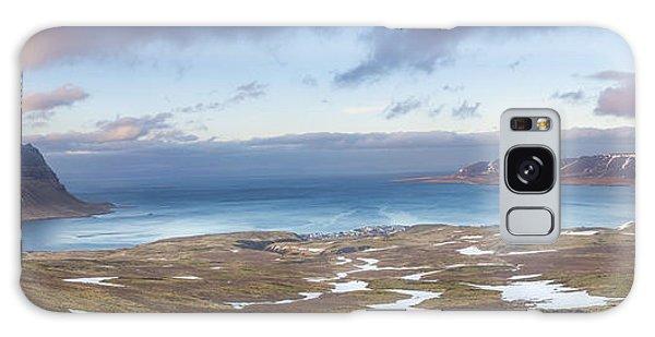 Kirkjufell And Grundarfjordur From On High Galaxy Case