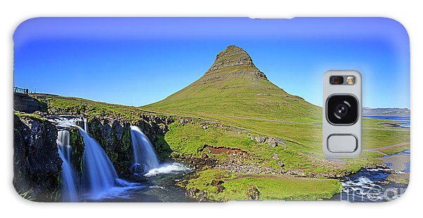 Galaxy Case featuring the photograph Kirkjufell Iceland by Edward Fielding