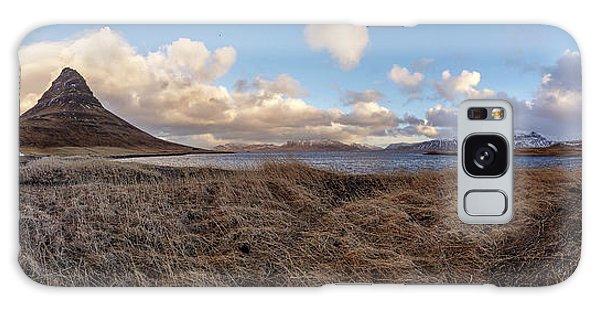 Galaxy Case featuring the photograph Kirkjufell Mountain Panoramic View, Iceland by Pradeep Raja PRINTS