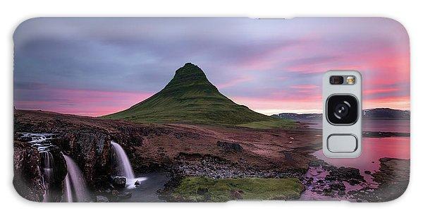 Stream Galaxy Case - Kirkjufellsfoss Waterfalls Iceland Portrait Version by Larry Marshall