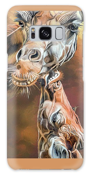 Galaxy Case featuring the mixed media Kiss For Mama by Carol Cavalaris