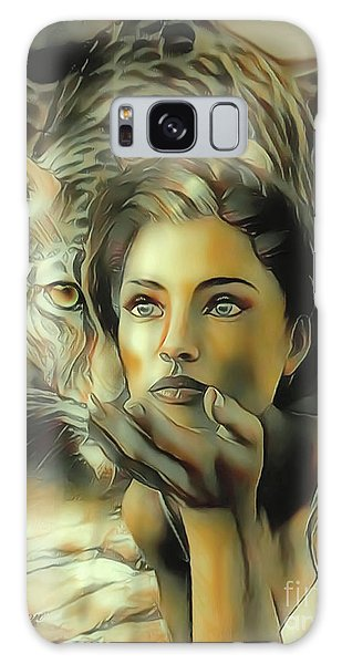 Kiss Of The Leopard Woman Galaxy Case