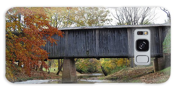 Kissing Bridge At Fall Galaxy Case by Eric Liller