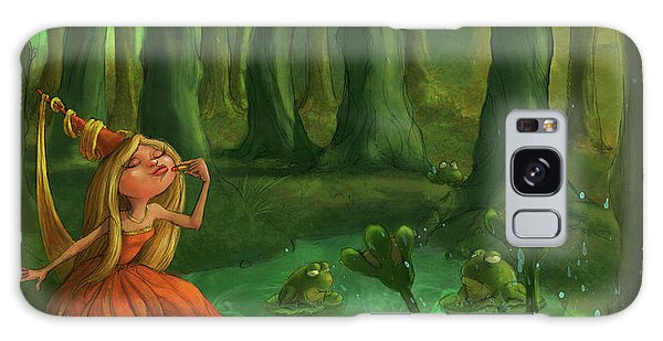 Frogs Galaxy Case - Kissing Frogs by Andy Catling