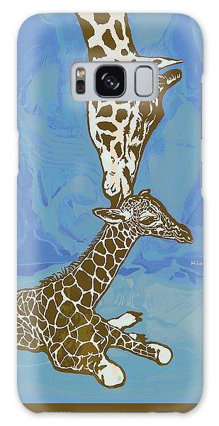 Kissing - Giraffe Stylised Pop Art Poster Galaxy S8 Case