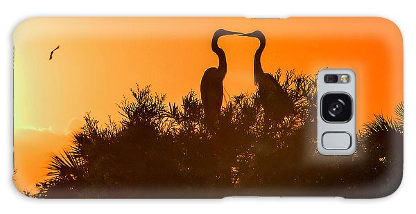 Kissing Herons  Galaxy Case