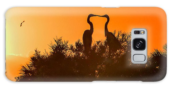 Kissing Herons  Galaxy Case