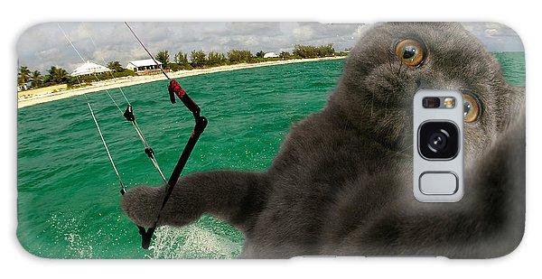 Kite Surfing Cat Selfie Galaxy Case