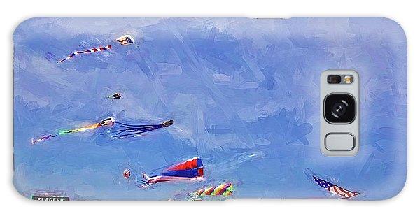 Kites At The Flagler Beach Pier Galaxy Case