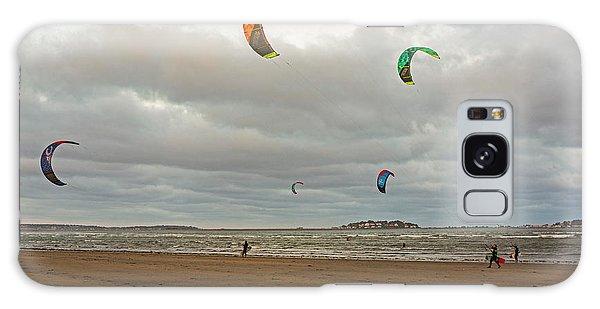 Kitesurfing On Revere Beach Galaxy Case