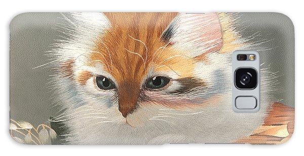 Kitten In A Basket Galaxy Case