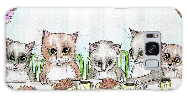 Kitten Tea Party Galaxy Case