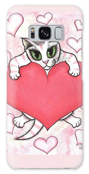 Kitten With Heart Galaxy Case