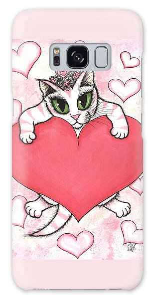 Kitten With Heart Galaxy Case by Carrie Hawks