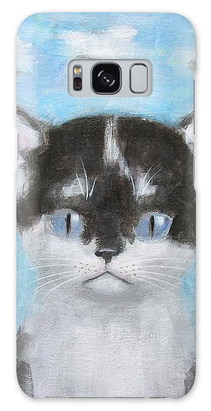 Kitten With Three Clouds Galaxy Case