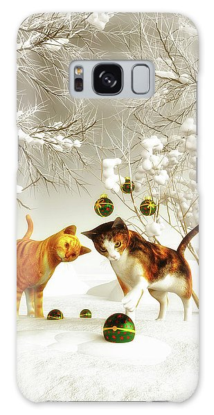 Kittens At Christmas Galaxy Case