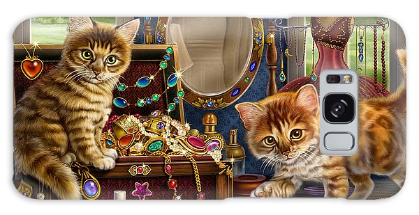 Kittens With Jewelry Box Galaxy Case