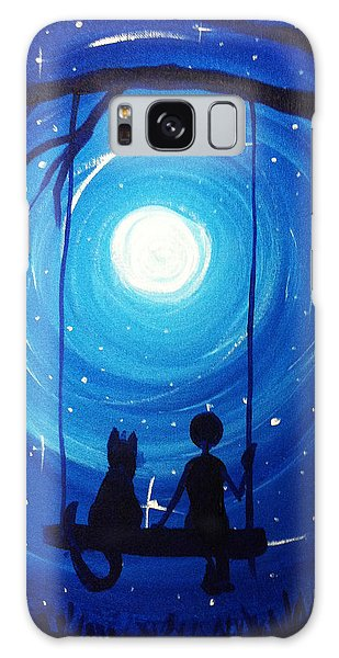 Kitty And Me Galaxy Case