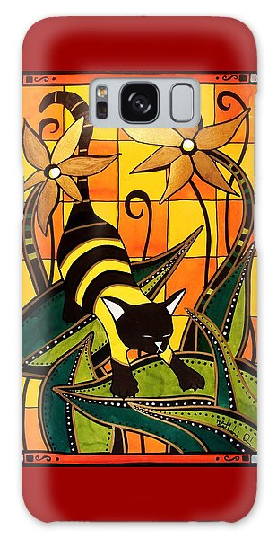 Kitty Bee - Cat Art By Dora Hathazi Mendes Galaxy Case by Dora Hathazi Mendes