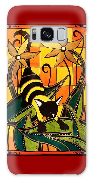 Kitty Bee - Cat Art By Dora Hathazi Mendes Galaxy Case