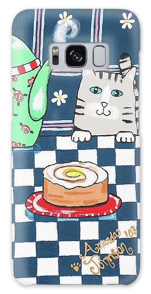 Kitty Cat Tea Time Galaxy Case