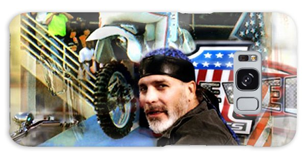 Knievel American Tradition   Robbie Knievel Galaxy Case by Iconic Images Art Gallery David Pucciarelli