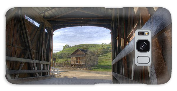 Knights Ferry Covered Bridge Galaxy Case