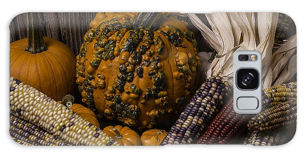 Gourd Galaxy Case - Knuklehead Pumpkin And Indian Corn by Garry Gay