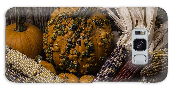 Mottled Galaxy Case - Knuklehead Pumpkin And Indian Corn by Garry Gay